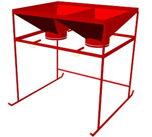 Бункер для заполнения контейнеров текстильных